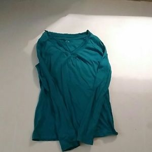 SO Teal Layered Look Shirt